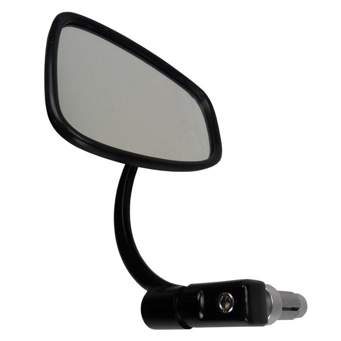 Schwarzer Lenkerspiegel Retro für Zoll und 22 mm