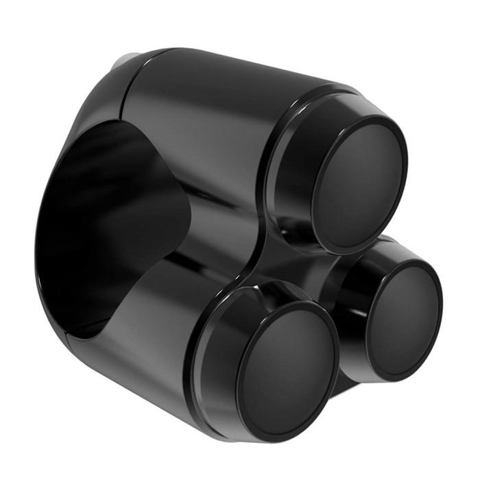 Schwarzer Aluminium Lenkertaster Triple für Zoll Lenker