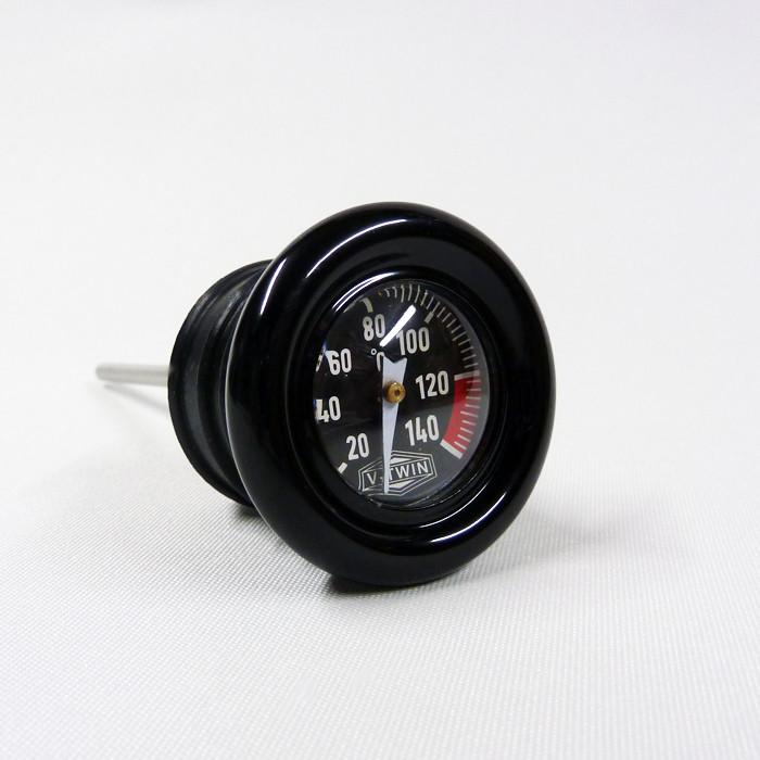 Schwarzer Öltemperaturmessstab für HD Softail und Sportster
