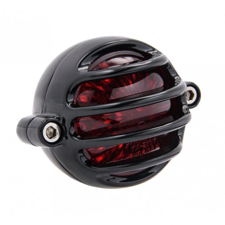 LED Aluminium schwarz Motorrad Rücklicht Prison Style