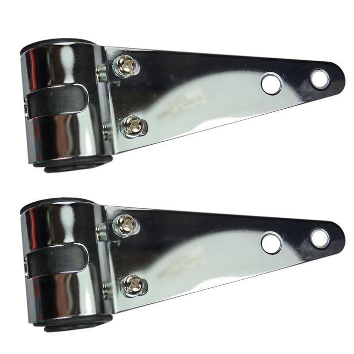 Universelle Scheinwerferhalter chrom für 30-38 mm