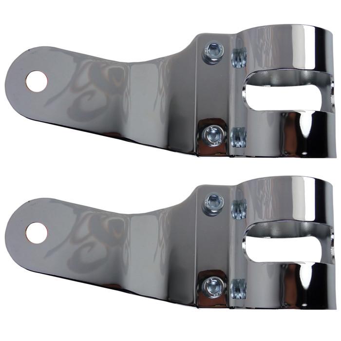 Universelle Scheinwerferhalter chrom für 38 bis 42 mm