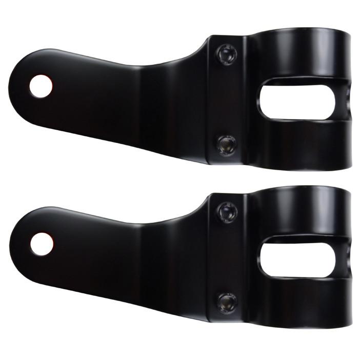 Universelle Scheinwerferhalter schwarz für 38 bis 42 mm
