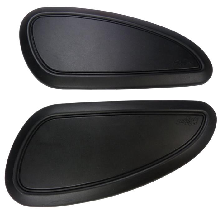 Ein paar Tank Kniepads schwarz glatt B-Ware