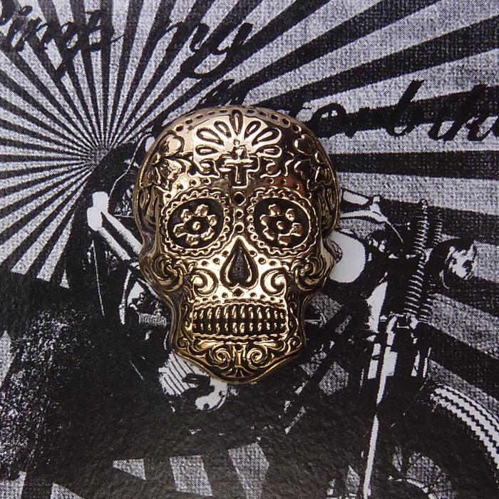 Zierschraube Sugar Skull Bronze