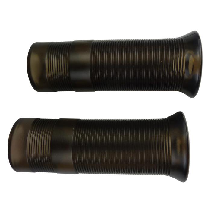 Kurze Motorradgriffe im Anderson Style schwarz 22 mm