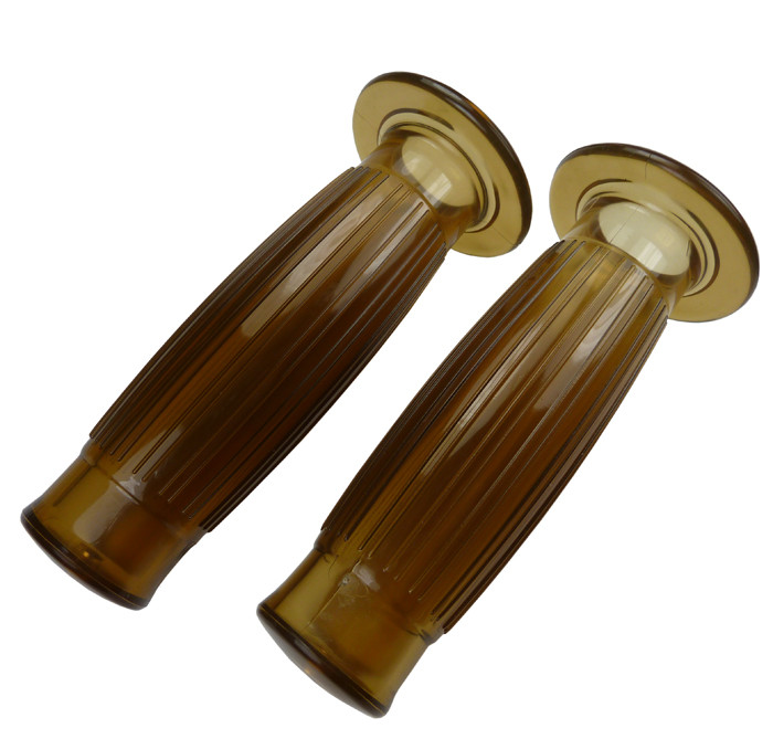 Barrel Style grips clear brown for 22 mm handlebar