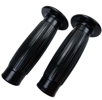 Barrel Style grips black for 22 mm handlebar