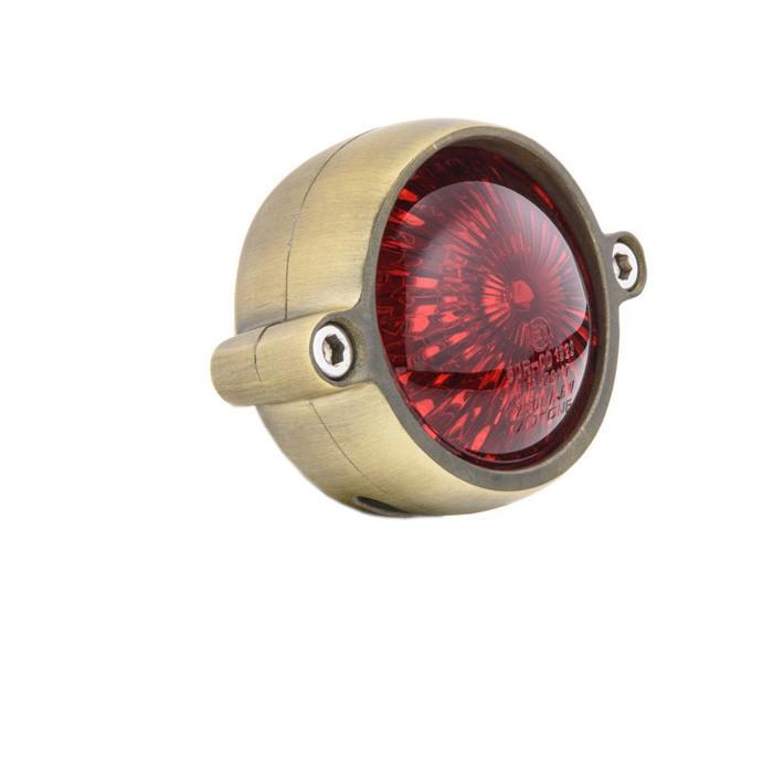 LED Messing fnish Motorrad Rücklicht Round Style