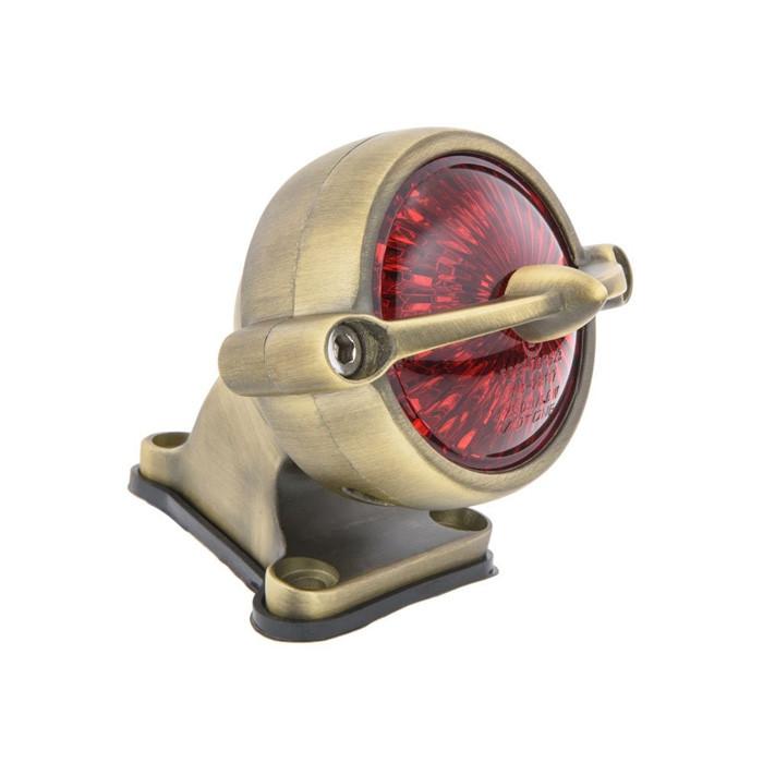 Messing finish LED Rücklicht Bullet Style mit Halter