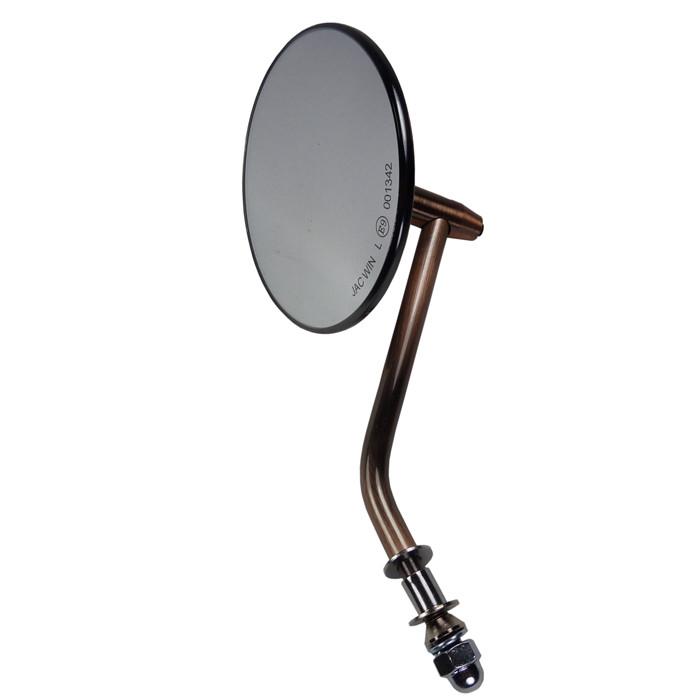 Motorradspiegel Kupfer finish mit E Zeichen für HD Modelle