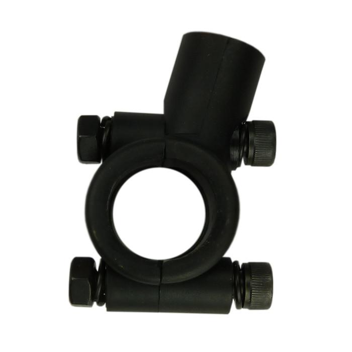 Schwarze Spiegelschelle für 22 mm Lenker
