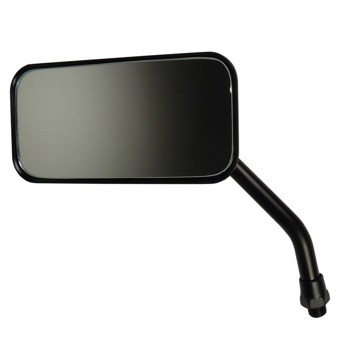 Schwarzer Motorrad Custom Spiegel rechteckig für links