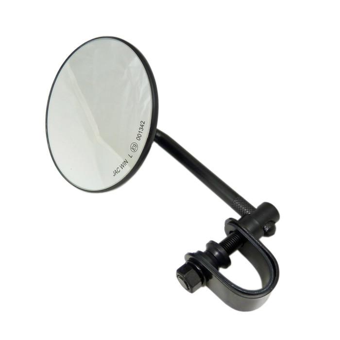 E geprüfter schwarz Retro Spiegel mit Schelle