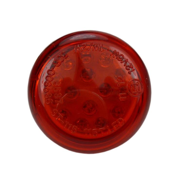 Rotes LED Rücklicht rund Mini
