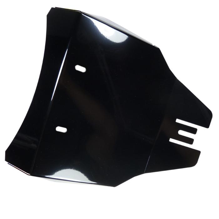 Schwarzes Solositz Abdeckblech für Kawasaki VN800 mit original Batterie