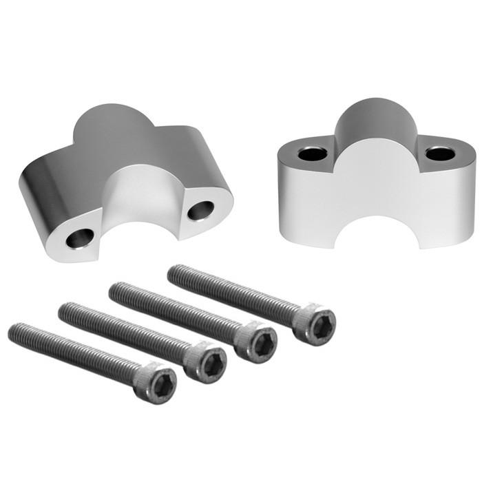 Aluminium Riser Adapter silber für Triumph Modelle