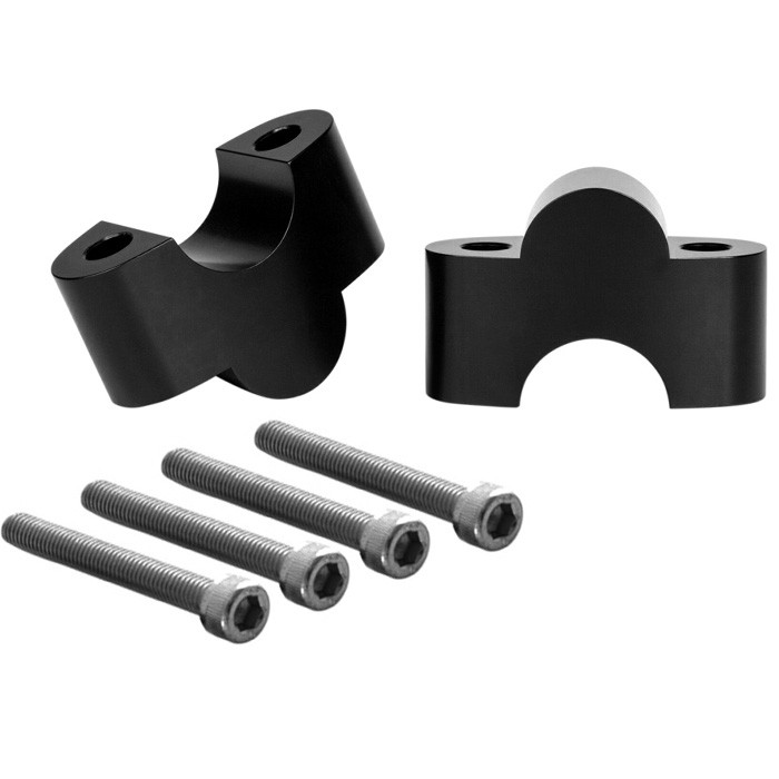 Aluminium Riser Adapter schwarz für Triumph Modelle