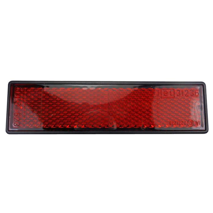 Roter rechteckiger Reflektor 12x3,2 cm