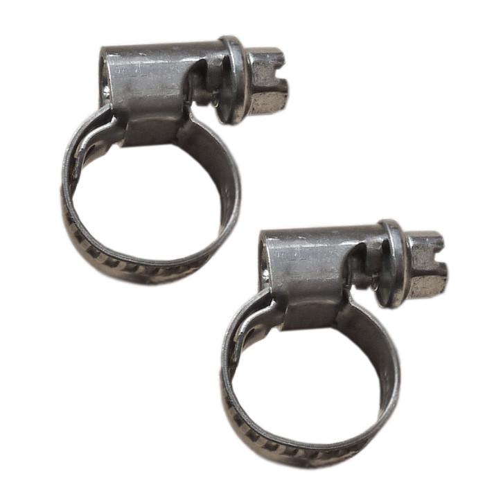 Zwei Stück VA Schlauchschelle 10 bis 16 mm