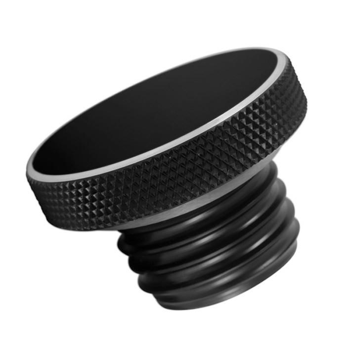 Schwarzer Aluminium Tankdeckel für HD und Triumph