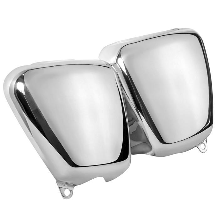 Zwei Aluminium Seitendeckel für Triumph Modelle