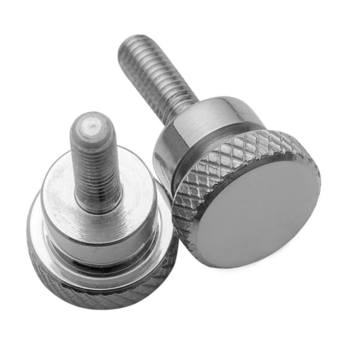 Zwei Schnellverschluss Seitendeckel Schrauben