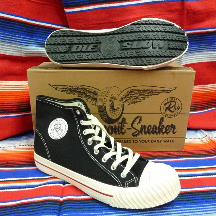 Burnout Sneaker schwarz mit Reifensohle