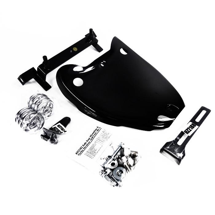 Schwarzes Easyriders Solositz Montage Kit für HD Softail