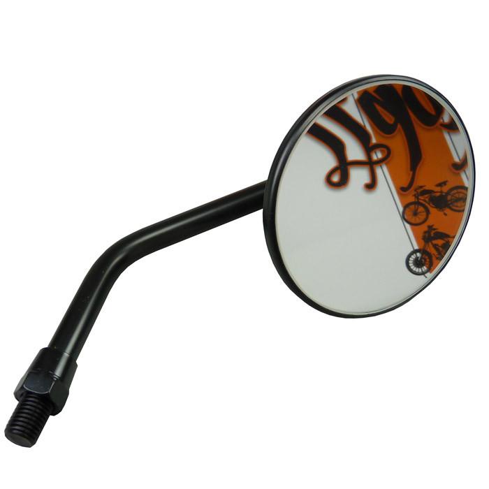 Runder 3 Zoll Motorradspiegel mit 10 mm Gewinde