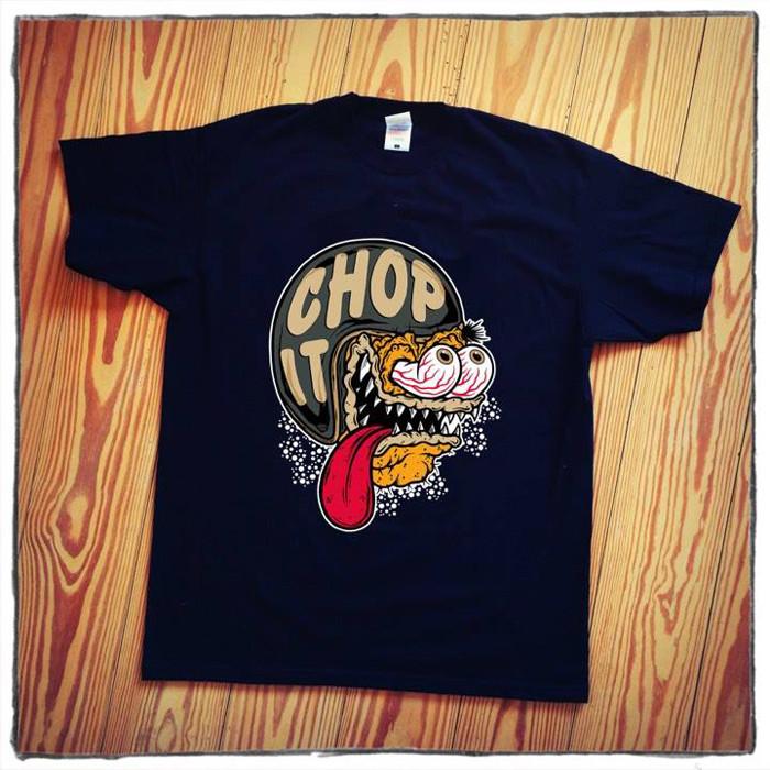 T-Shirt helmet Monster Chop it