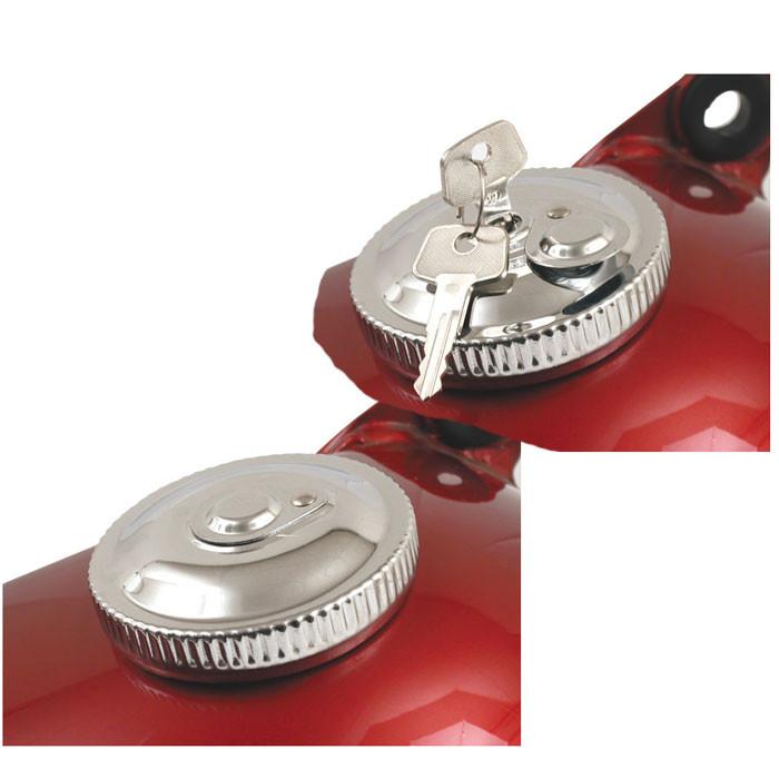 Tankdeckel Set chrom für HD 83 bis 95 abschließbar