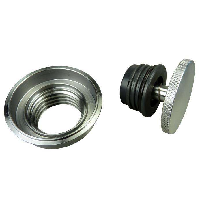 Verchromter Aluminium Pop up Tankdeckel + Einsatz