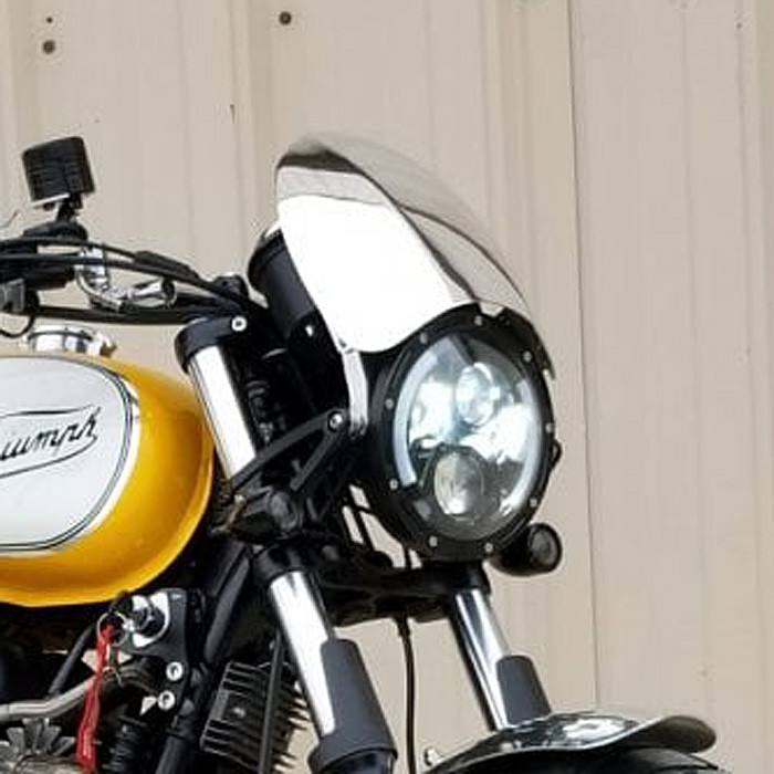 Aluminium Windschild für Triumph T100