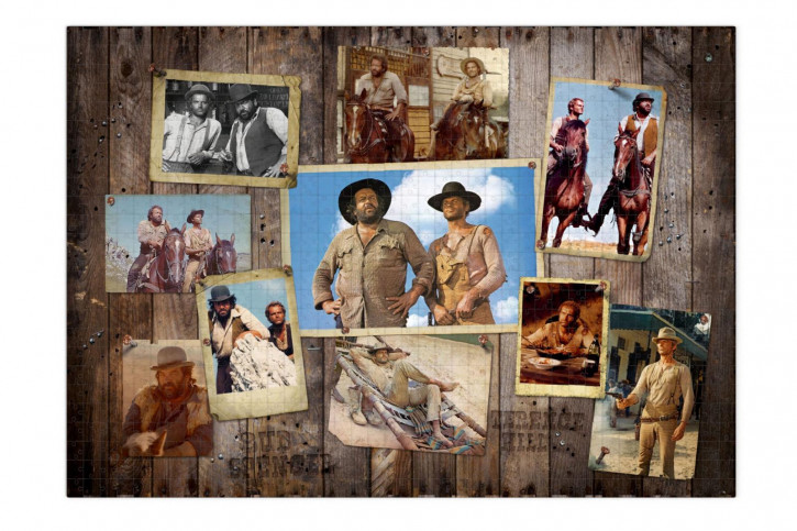 Bud Spencer & Terence Hill Puzzle Western Photo Wall