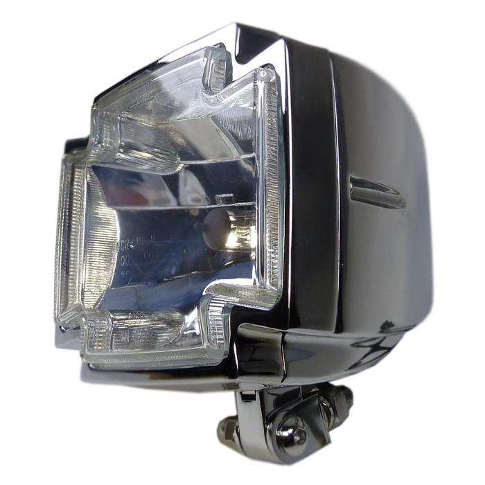 Zwei chrom Motorrad LED Blinker Chopper Cross Style E geprüft für hinten