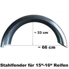 155 mm x 660 mm ribbed Stahl Fender D Profil