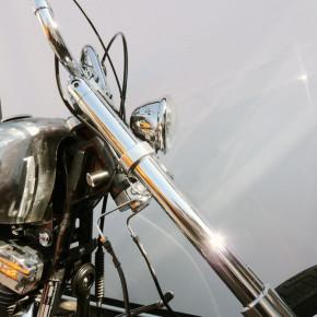 Kleiner Hauptscheinwerfer Bates Style 4,5 Zoll chrom