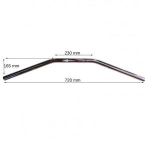Fehling Drag Bar Lenker 72 cm schwarz mit Kerbe