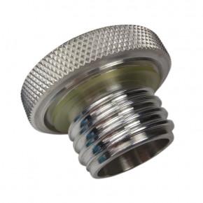 Tankdeckel Aluminium poliert - mit Wavedesign