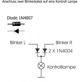 Mini Tachometer mit Kontrollleuchten - weiß