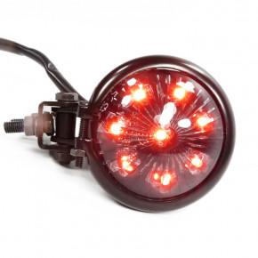 LED Rücklicht Bates Style schwarz smoked