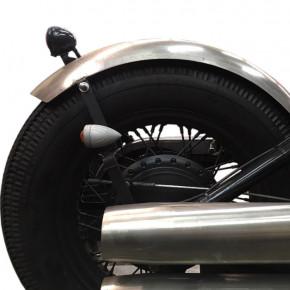 Runder Motorrad Stahlfender John 150 mm breit