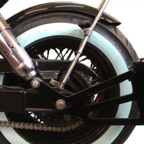 Runder Motorrad Stahlfender Jack 180 mm breit