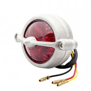 LED Aluminium Motorrad Rücklicht Round Bullet Style mit Halter