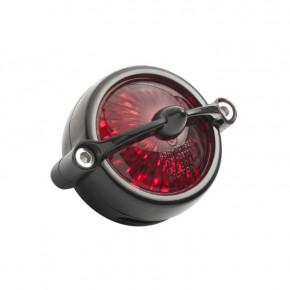 LED Aluminium Motorrad Rücklicht schwarz Round Bullet Style