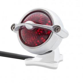 LED Aluminium poliert Motorrad Rücklicht Round Bullet Style