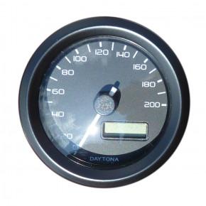 Daytona Velona digitaler Tacho schwarz bis 200 km/h