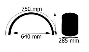 285 mm breiter 2 mm Stahlfender Ridge Line