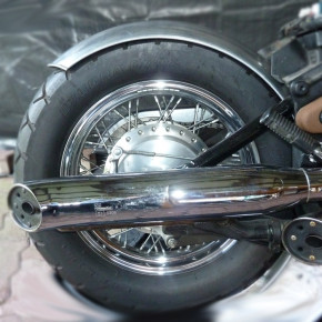 160 mm x 670 mm Heckfender Stahl mit gebördelter Kante